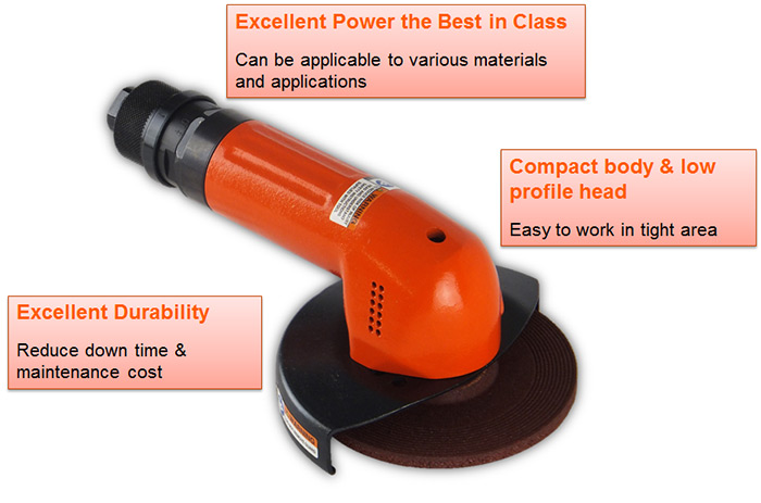 """New Fuji FA-30 Series: High Power and Compact 4"""" Angle Grinders"""